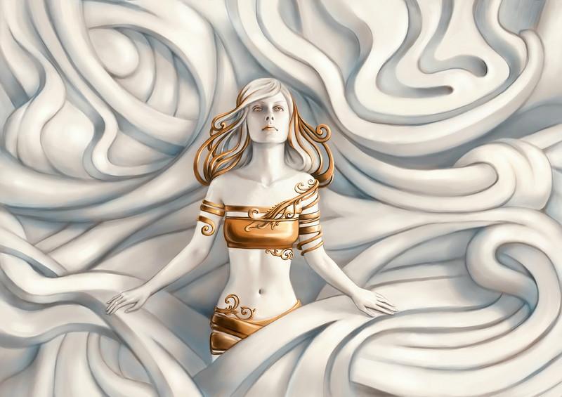 3D Фотообои 3D Фотообои «Барельеф морская владычица»