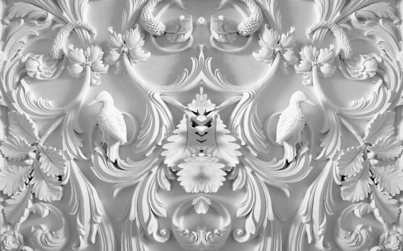 3D Фотообои 3D Фотообои «Барельеф птицы в листьях»