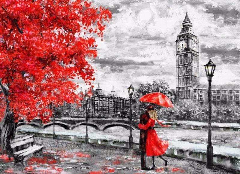 3D Фотообои 3D Фотообои «Романтичный осенний Лондон»