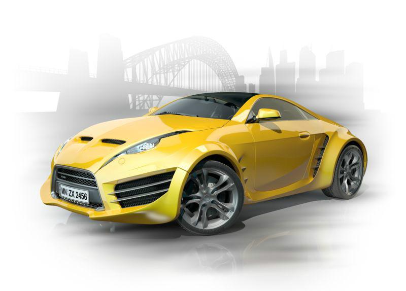 3D Фотообои 3D Фотообои «Концепт автомобиля»