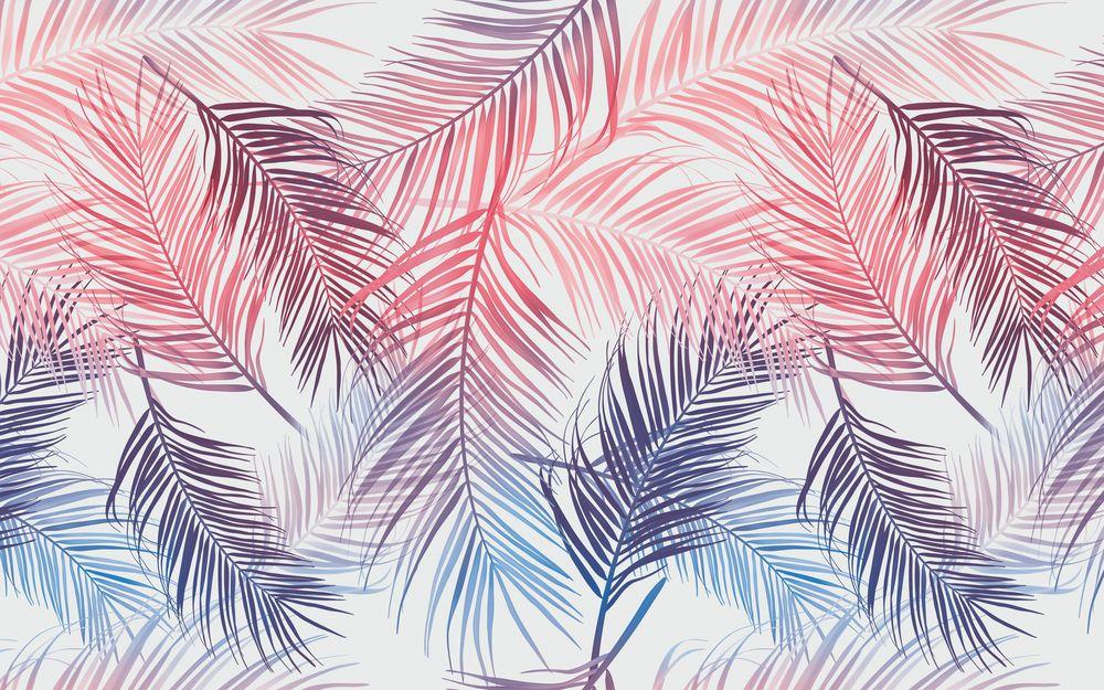 3D Фотообои 3D Фотообои «Яркие пальмовые листья»