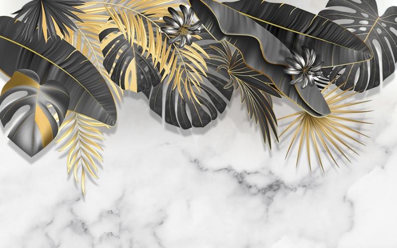 3D Фотообои 3D Фотообои «Мраморное золото»