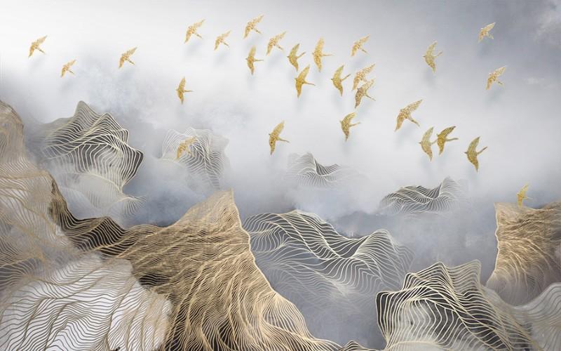 3D Фотообои 3D Фотообои «Стая в тумане»