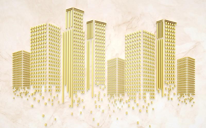 3D Фотообои 3D Фотообои «Золотой город»
