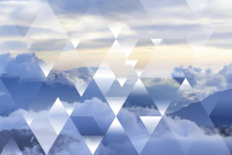 3D Фотообои 3D Фотообои  «Облачная геометрия»