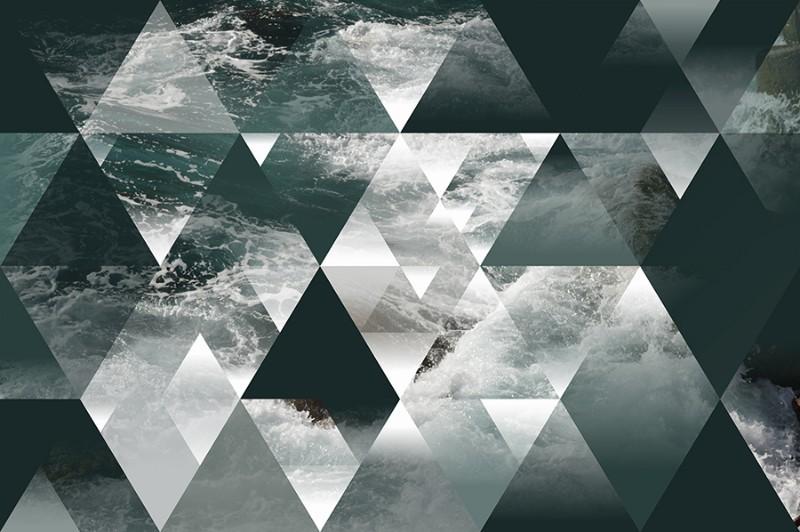 3D Фотообои 3D Фотообои  «Морская геометрия»