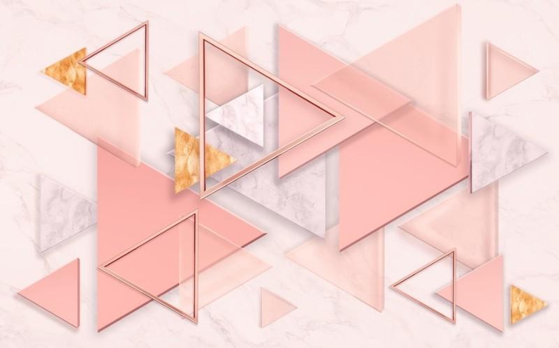 3D Фотообои 3D Фотообои «Коралловые треугольники»
