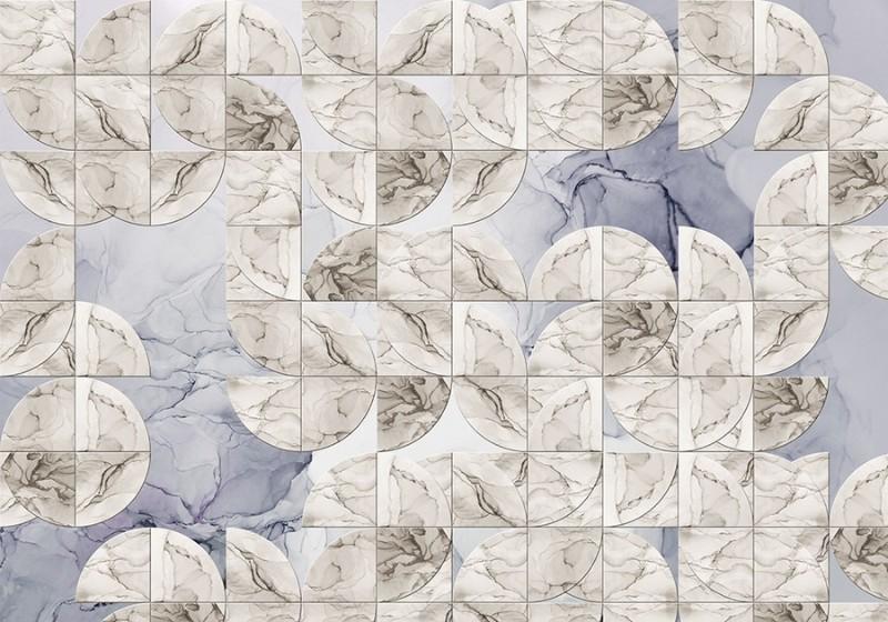 3D Фотообои 3D Фотообои «Нежная мраморная мозаика»