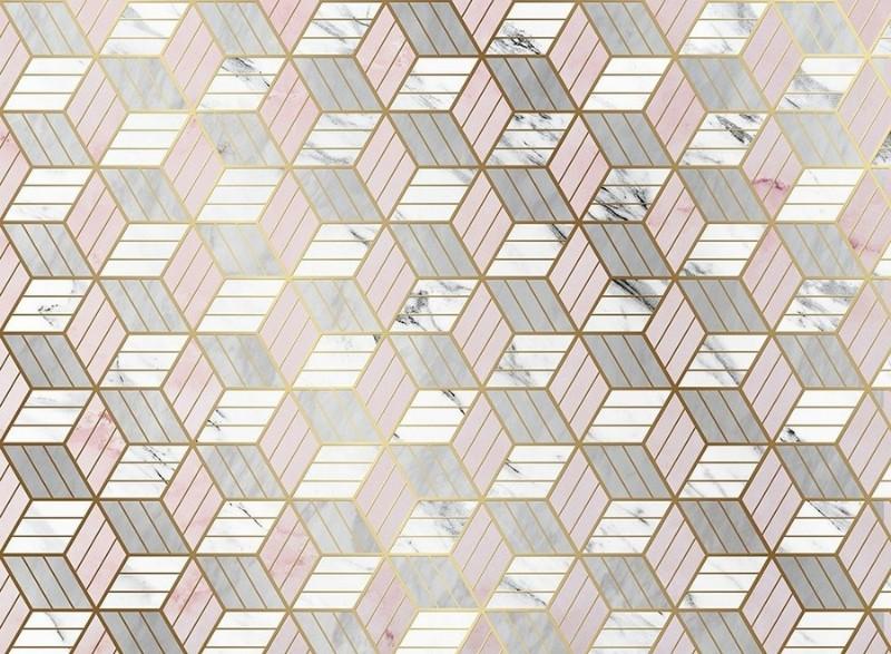3D Фотообои «Романтичная геометрия»