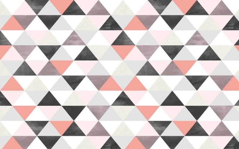 3D Фотообои 3D Фотообои «Треугольники в строгих тонах»