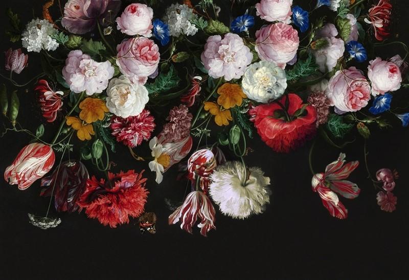 3D Фотообои «Цветы в стиле барокко»