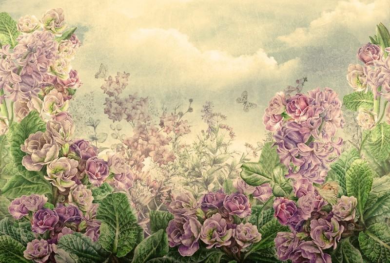 3D Фотообои 3D Фотообои  «Цветы на лугу»