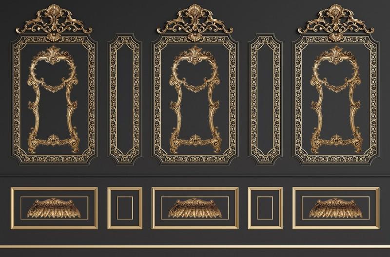 3D Фотообои 3D Фотообои «Стена в классическом стиле»