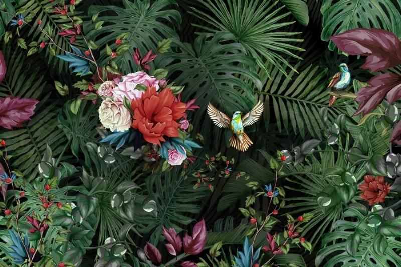 3D Фотообои Фотообои «Райские птицы»