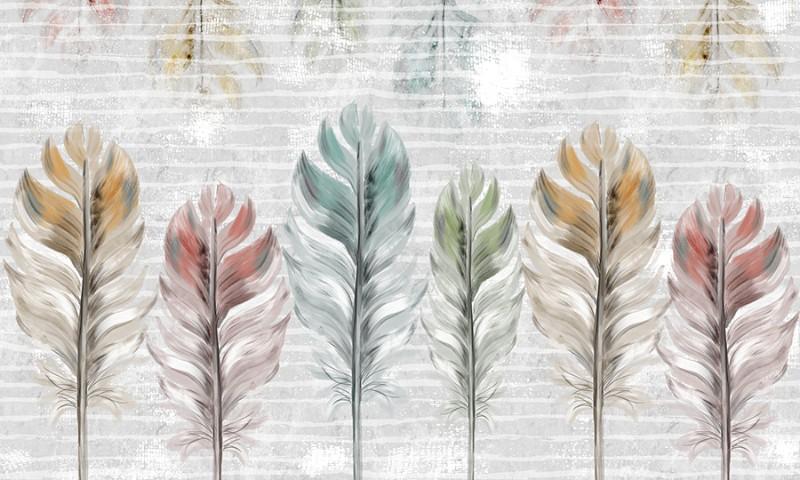 3D Фотообои 3D Фотообои  «Разноцветные перья»