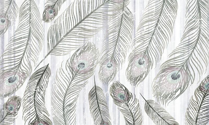 3D Фотообои 3D Фотообои  «Винтажные перья»