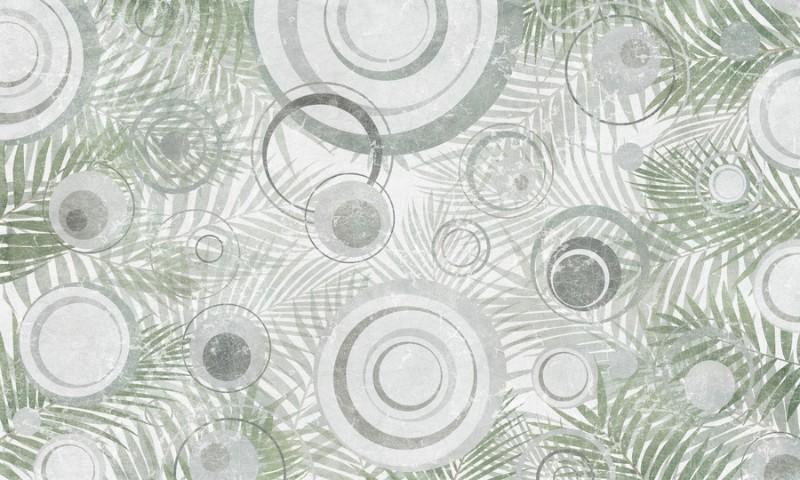 3D Фотообои «Парящие круги»