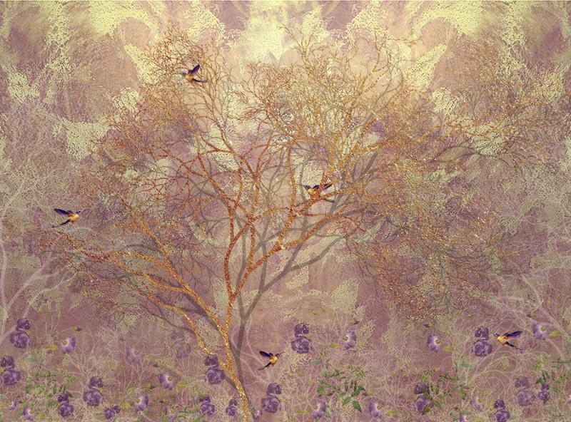 3D Фотообои 3D Фотообои  «Птицы в осеннем саду»