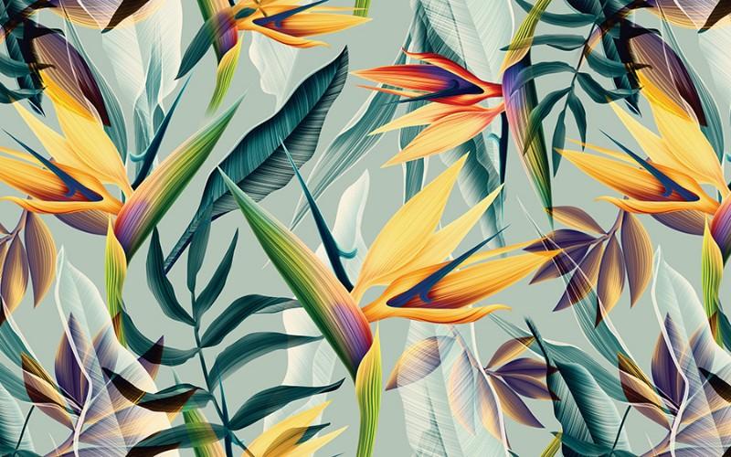 3D Фотообои 3D Фотообои  «Тропический мотив»