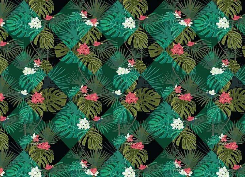 3D Фотообои 3D Фотообои «Тропические ромбы»