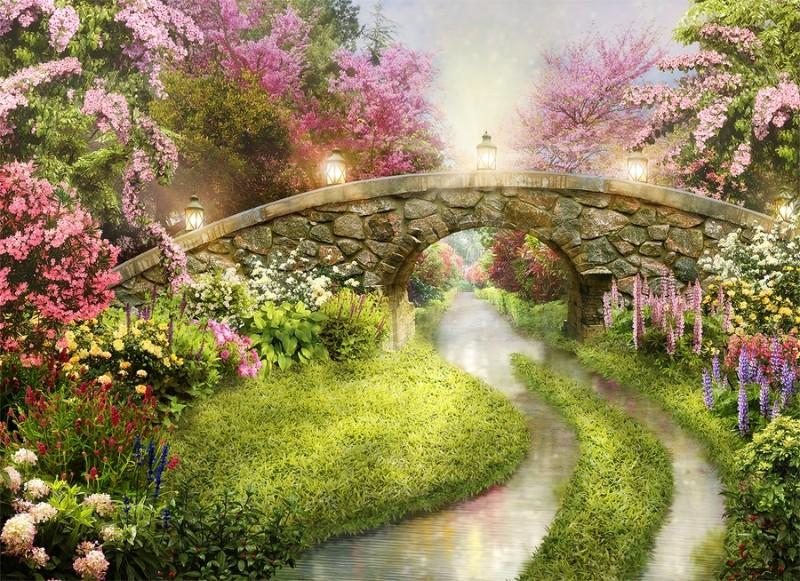 3D Фотообои 3D Фотообои «Сказочный мостик»