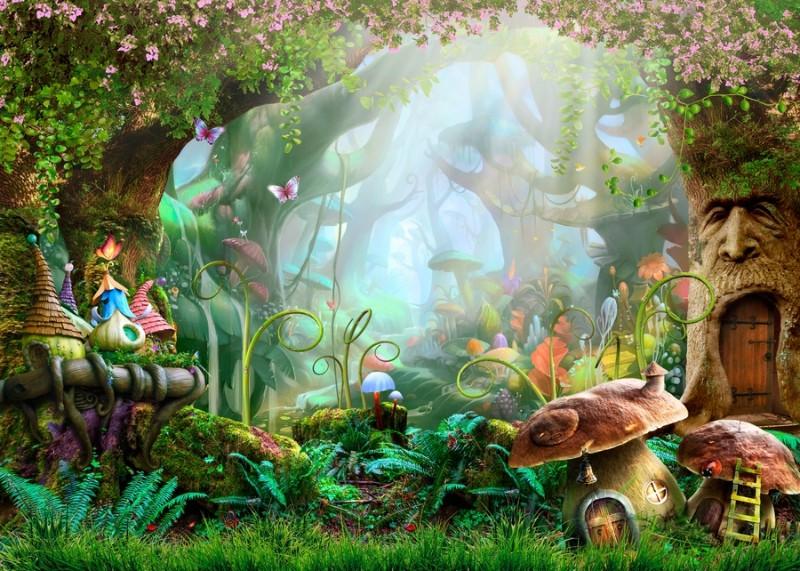 3D Фотообои 3D Фотообои «Сказочный дремучий лес»