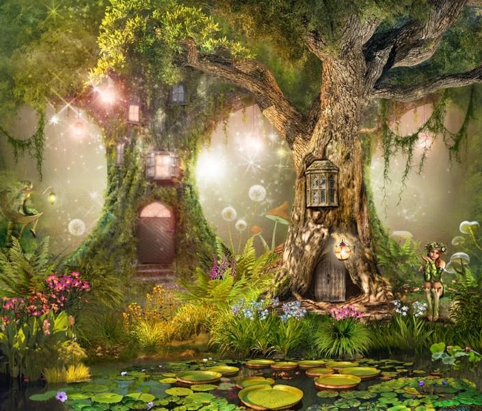 3D Фотообои «Лесные феи»
