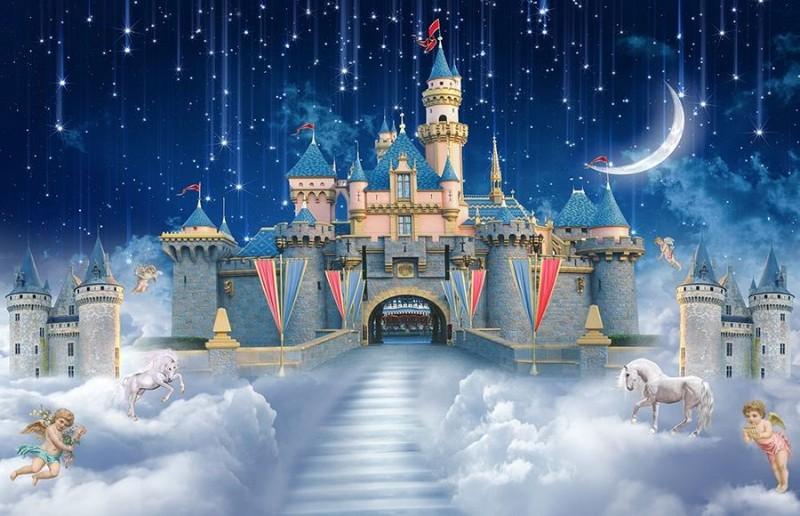 3D Фотообои 3D Фотообои «Звездопад над сказочным замком»