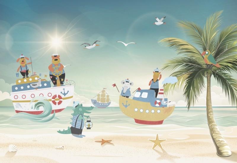 3D Фотообои Фотообои «Морские приключения»