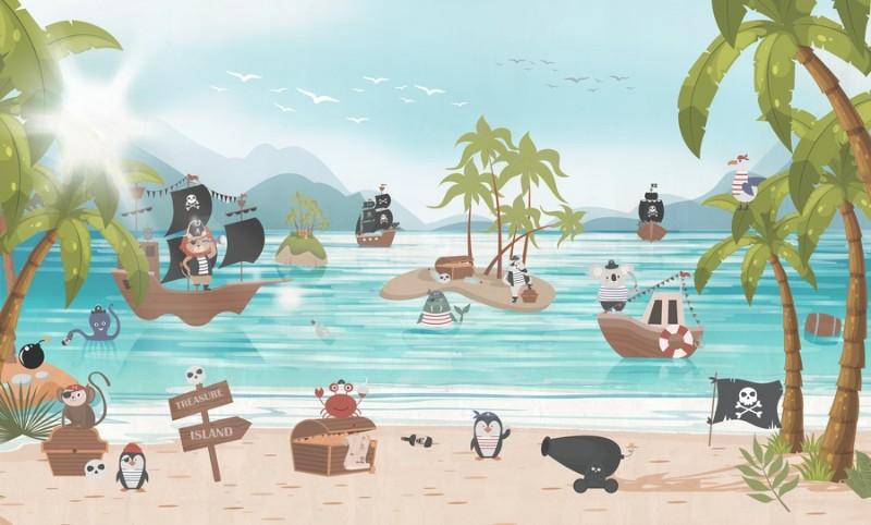 3D Фотообои Фотообои «Остров сокровищ»