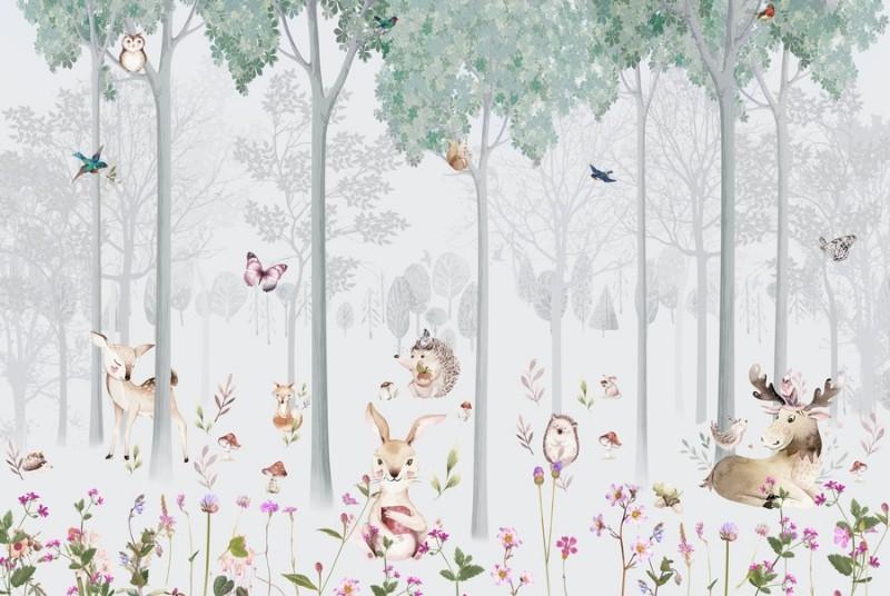 3D Фотообои Фотообои «Уютная полянка»