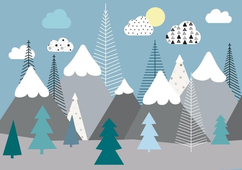 3D Фотообои Фотообои «Горный лес»