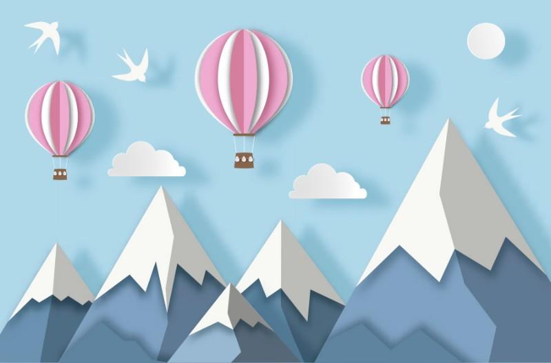3D Фотообои Фотообои «Полёт среди горных вершин»