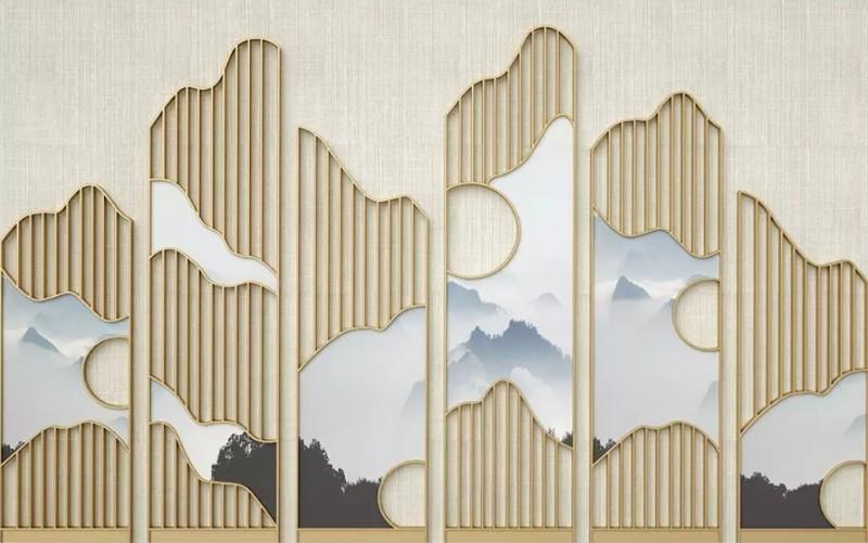 3D Фотообои «Волшебные горы»