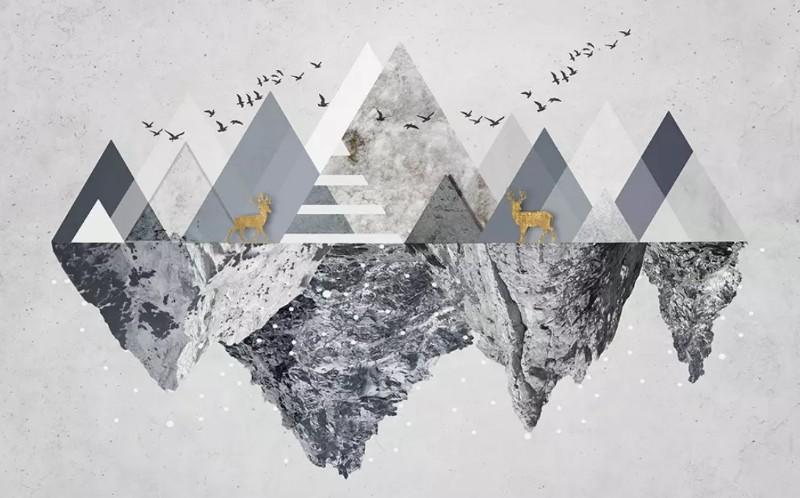 3D Фотообои «Загадочные горы»
