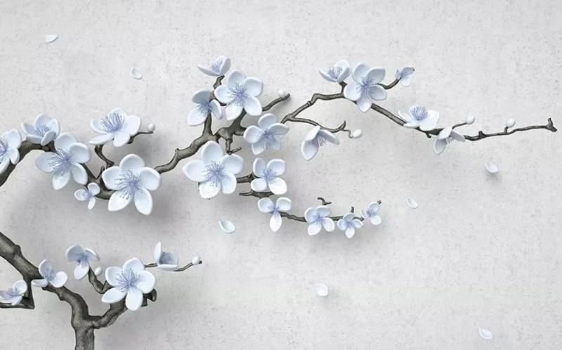 3D Фотообои 3D Фотообои «Голубая сакура»