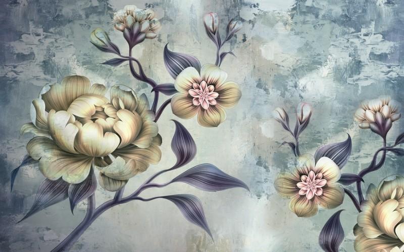 3D Фотообои 3D Фотообои  «Композиция из волшебных цветов»