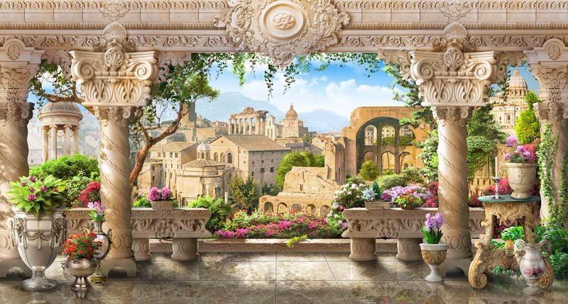 3D Фотообои 3D Фотообои «Римская терраса»