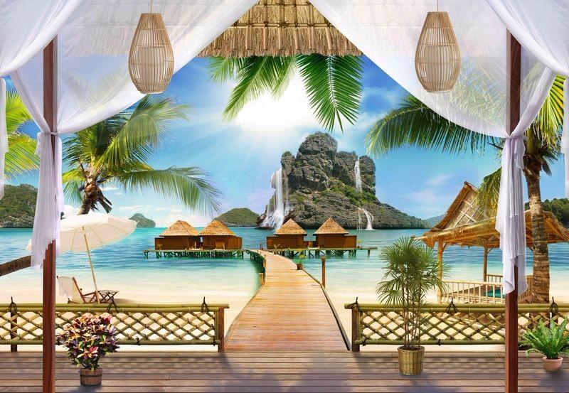 3D Фотообои 3D Фотообои «Тропическая терраса»