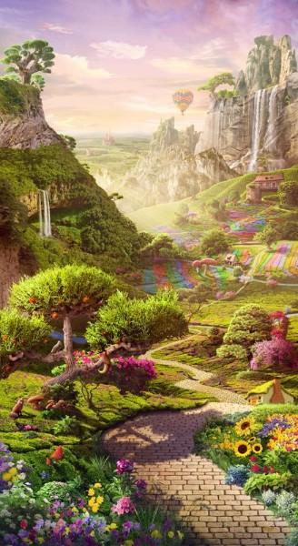 3D Фотообои 3D Фотообои «Дорога в сказочное королевство»
