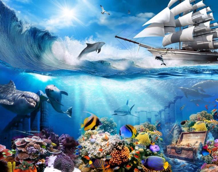 3D Фотообои 3D Фотообои «Морские глубины»