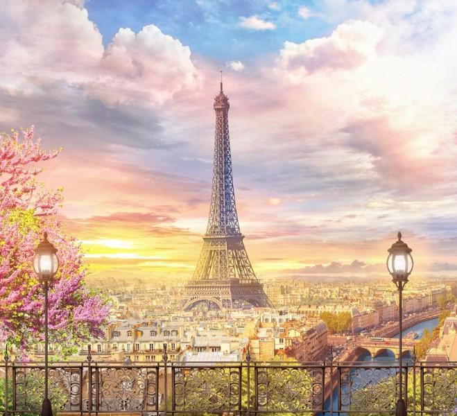 3D Фотообои «Весенний Париж»
