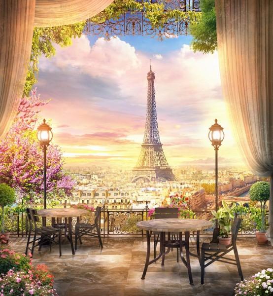 3D Фотообои 3D Фотообои «Парижский ресторанчик»