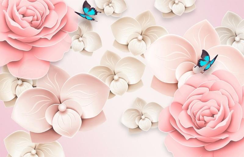 3D Фотообои 3D Фотообои «Карамельные цветы»