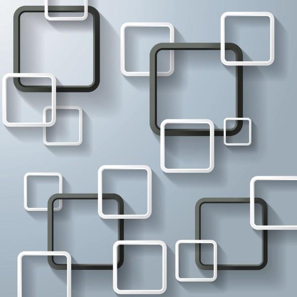3D Фотообои «Объемные квадраты»