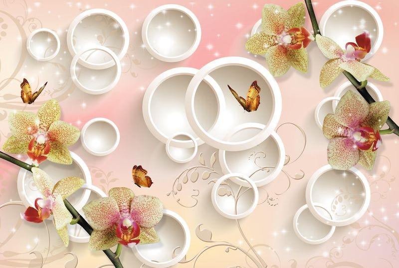 3D Фотообои 3D Фотообои  «Дикие орхидеи»
