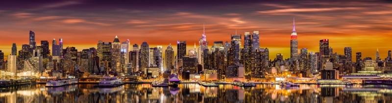 3D Фотообои «Вечерний мегаполис»