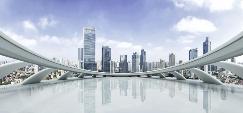 3D Фотообои 3D Фотообои «Вид с крыши небоскреба»