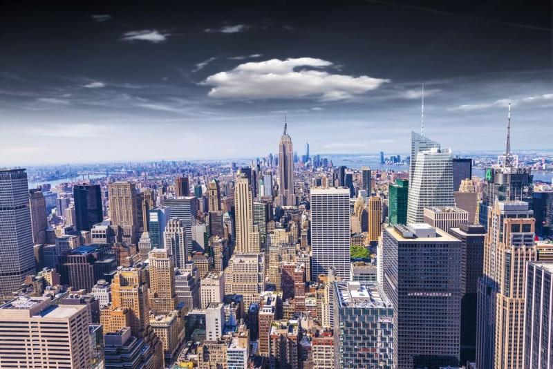 3D Фотообои «Над небоскребами»