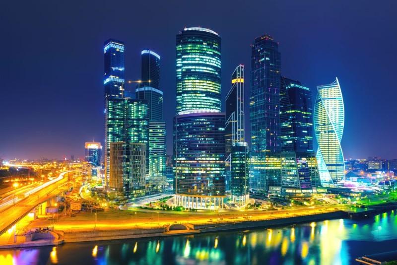 3D Фотообои «Ночная Москва»